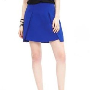 NWT Banana Republic Structured Winged Cobalt Skirt